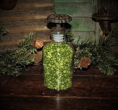 Old Tyme Vtg Style Glass Jar w/ Metal Water Spigot Faucet Valve Lid Gift Idea
