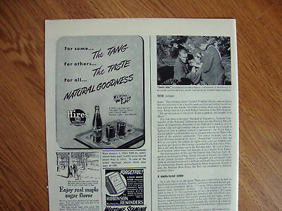 1944 Hires Root Beer Ad The Tang The Taste