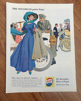 1960 Pepsi Cola Ad at the Vintage Automobile Show