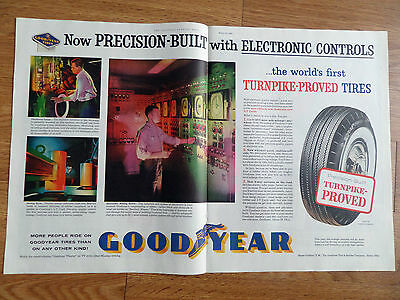 1960 Goodyear Tire Ad New Precision-Built with Electronic Controls