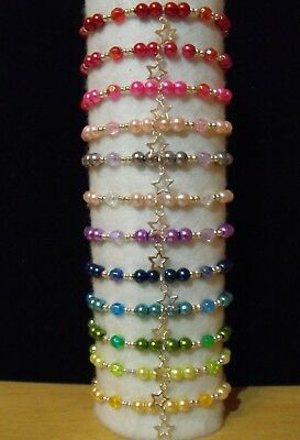 Wholesale Jewellery Childrens Job Lot Beaded Charm Bracelets.gifts,party Bags
