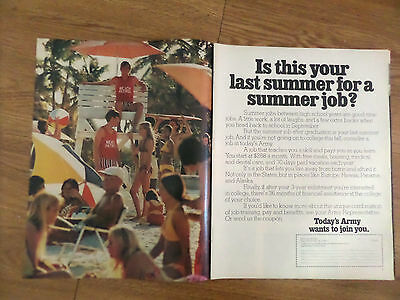 1971 Army Recruiting Ad TIs this ;your last Summer for a Summer Job?