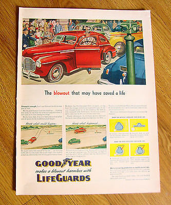 1945 Goodyear Tire LifeGuards Ad Ford Chevrolet Plymouth Pontiac Buick ?