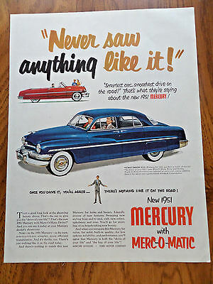 1951 Mercury Ad Never Saw Anything Like It