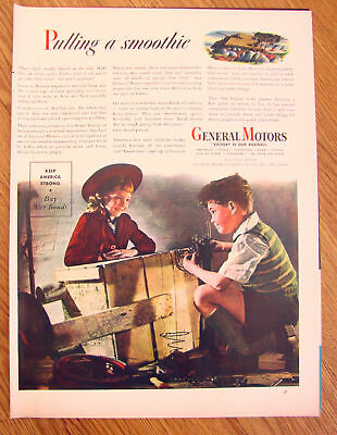 1944 GM General Motors Ad  Pulling a Smoothie