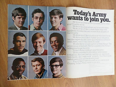 1971 Army Recruiting Ad Today's Army Wants to Join You