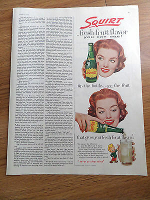 1958 Squirt Soda Bottle Ad  Take A Tip Tip the Bottle