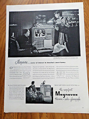1951 Magnavox TV Ad French Provincial