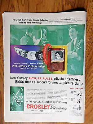 1956 TV Television Ad Crosley Picture  U.S. Steel Hour Director Norman Felton