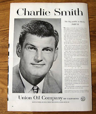 1958 Union Oil 76 Ad  Charlie Smith Alaska Part II