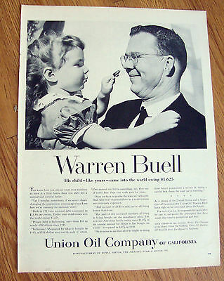 1957 Union Oil 76 Ad Warren Buell