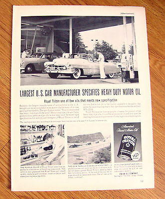1951 Royal Triton 76 Oil Ad Chevrolet Buick Olds ?