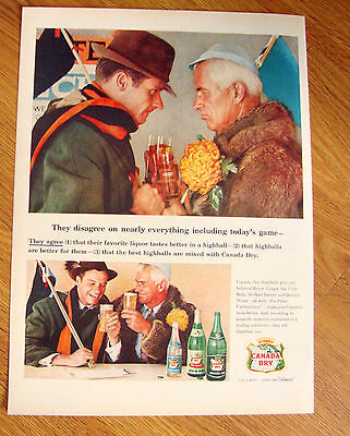 1956 Canada Dry Ad  Today's Football Game