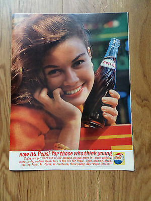 1961 Pepsi Cola Ad -  For Those who Think Young