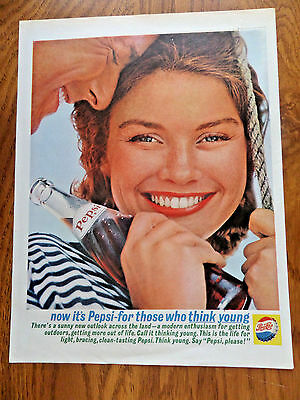 1962 Pepsi Cola Ad -  For Those who Think Young