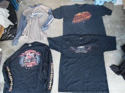 Men's Wholesale Lot 15 Harley Davidson Motorcycle T-shirts (wb460)