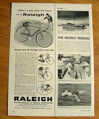 1955 Raleigh Bicycle Ad Sports Tourist Lenton Junior