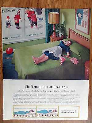 1960 Beautyrest by Simmons Ad After the Happy Birthday Party