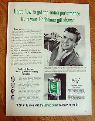 1951 Williams Lectric Shave Ad  The Before-Shave Beard Conditioner
