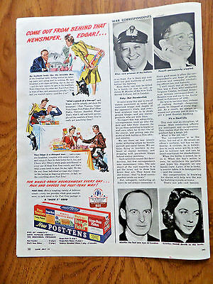 1943 Post Post's Tens Cereal Ad Come Out from Behind that Newspaper Edgar
