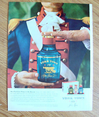 1960 York Town 1781 After Shave Lotion Ad