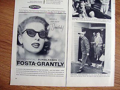1956 Foster Grant  Sunglasses Ad Makes a SunBody