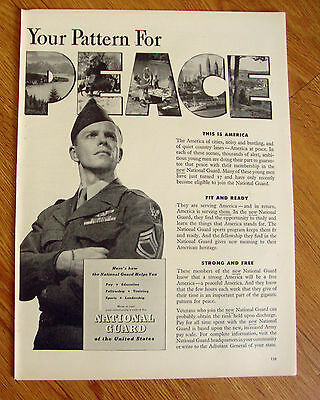 1948 New National Guard Ad  Your Pattern for Peace