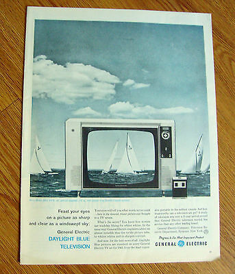 1961 GE General Electric TV Ad Daylight Blue Model R610 VVY Sailing Theme
