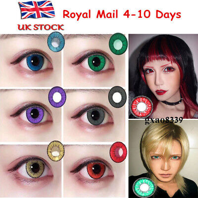 -UK STOCK- Coloured Contact Lenses Crazy Halloween Cosmetic Makeup Cosplay lens