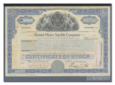 Bristol-Myers Squibb Company RARE American Bank Note Production Portfolio