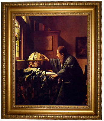 Vermeer The astronomer Framed Canvas Print Repro 16x20