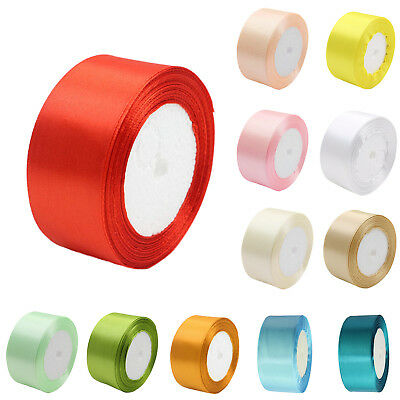 T8 1 roll 40mm 22 Meters silk satin ribbon for wedding party D3A5