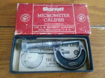 STARRETT OUTSIDE MICROMETER  MODEL No. 436   0-1  INCH /.001