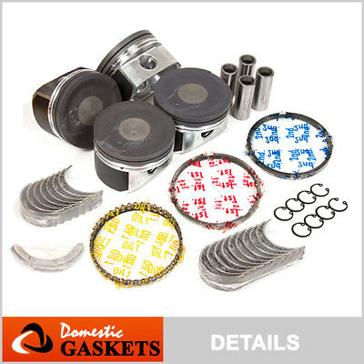 Pistons w// Rings 20mm Wrist Pin @0.50mm fit 97-00 Audi Volkswagen Turbo 1.8L 20V