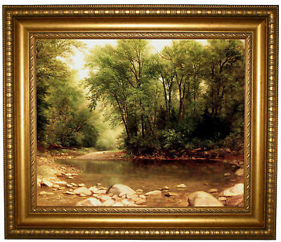 Durand Landscape 1867 Framed Canvas Print Repro 16x20