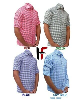 Trachten Oktoberfest German Bavarian Authentic Ledehosen Shirts 4 colors outfit