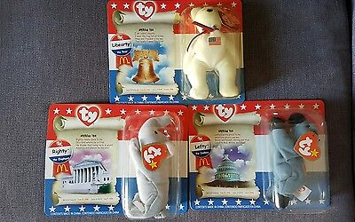 McDonald's Ty American Trio Beanie Babies 1996 new sealed UK