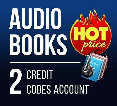 audible.com with 2 credit to download any audio book