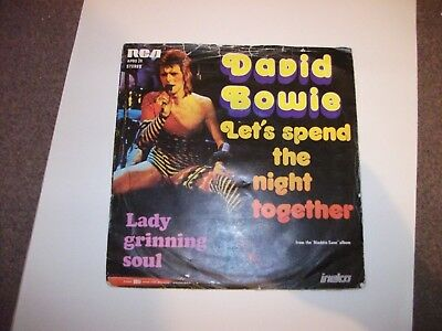 David Bowie Lets Spend The Night Together Dutch 7Inch Single