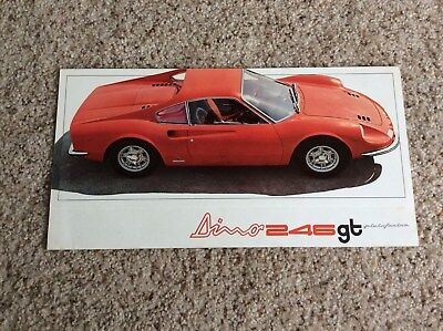 1969 ferrari  246 GT original factory printed color sales handout