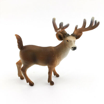 Schleich Germany 2002 10 Point Brown Buck Deer Collectible Toy Figurine Animal