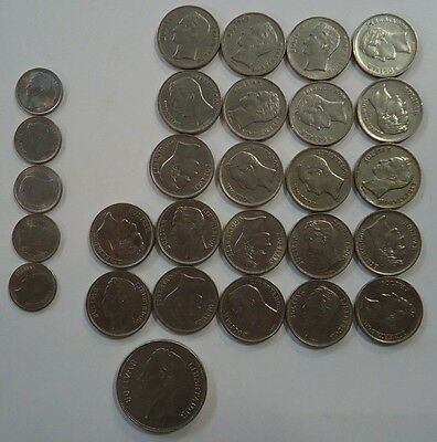 Lot Of 28 Venezuelan Coins