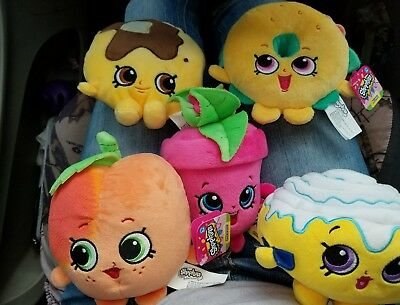 Lot of 5 Shopkins Plush NWT Awesome Deal!
