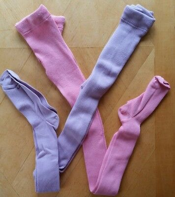 Nwt Hanna Andersson Cotton Footed Tights Pink Wildflower Purple 130 140