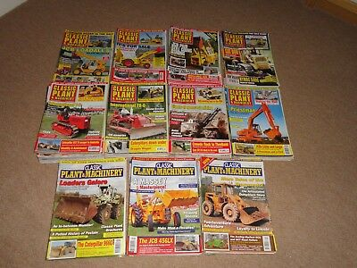 6x Classic Plant & Machinery magazines - back issues from 2006 - 2016