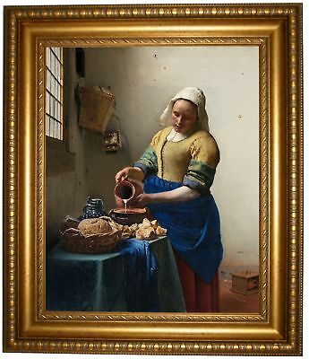 Vermeer The Milkmaid Framed Canvas Print Repro 16x20