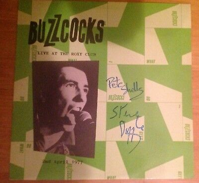 The Buzzcocks Live At The Roxy Club LP Autographed And Ex Condition