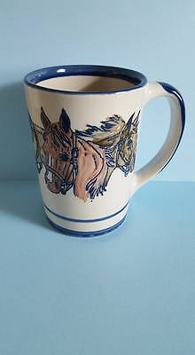 iasiu Kentucky Chapter Stoneware Embossed Coffee Mug; Triple Horses; USA