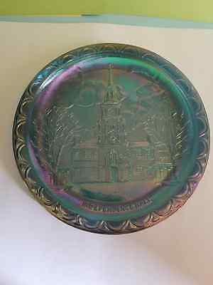 Indiana Glass Independence Hall Carnival Glass Plate
