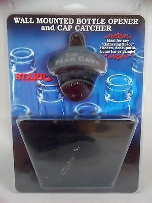 Wall-Mounted Bottle Opener Cap Catcher Metal by Starr - The Man Cave home decor